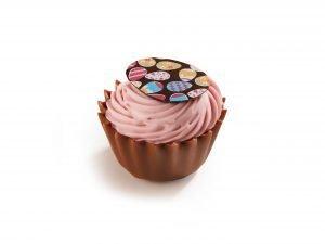 002213 Cupcake Jordgubbsfondant